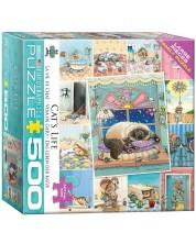Puzzle Eurographics de 500 XXL piese - Cat's Life