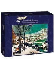 Puzzle Bluebird de 1000 piese - Hunters in the Snow (Winter), 1565