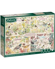 Puzzle Falcon de 1000 piese - The Country Diary 4 Seasons -1