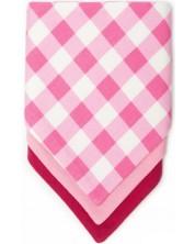 Set 3 bavete - esarfa Kiki Bibs - Pink -1