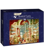 Puzzle Bluebird de 1000 piese - Picture Gallery with Views of Modern Rome, 1757