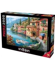 Puzzle Anatolian de 2000 piese - Village on the lake