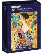 Puzzle Bluebird de 1000 piese - Lady with fan, 1918