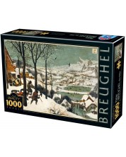 Puzzle D-Toys de 1000 piese - Hunters in the Snow -1