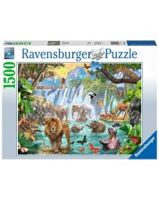 Puzzle Ravensburger de 1500 piese - Jungle Waterfall
