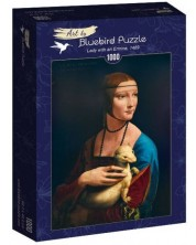 Puzzle Bluebird de 1000 piese - Lady with an Ermine, 1489
