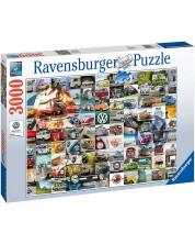 Puzzle Ravensburger de 3000 piese - 99 VW Bulli Moments