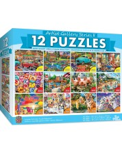 Puzzle Master Pieces 12 in 1 - Artist Gallery II 12 pack bundle