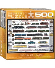 Puzzle Eurographics de 500 piese - History of Trains