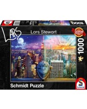 Puzzle Schmidt de 1000 piese - New York - Night and Day