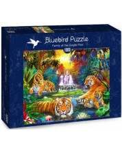 Puzzle Bluebird de 1000 piese - Family at the Jungle Pool