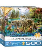 Puzzle Eurographics de 500 XXL piese - Familie de lupi