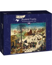 Puzzle Bluebird de 1000 piese - The Census at Bethlehem, 1566