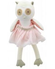 Papusa din carpa The Puppet Company - Bufnita cu rochie, 30 cm