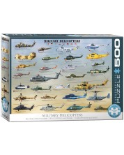 Puzzle Eurographics de 500 XXL piese - Military Helicopters