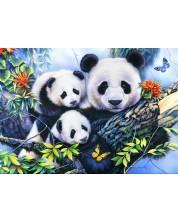 Puzzle Bluebird de 1000 piese - Familia Panda