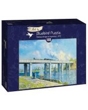 Puzzle Bluebird de 1000 piese - Railway Bridge at Argenteuil, 1873