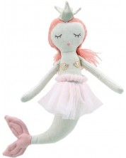 Papusa din carpa The Puppet Company - Sirena, 28 cm