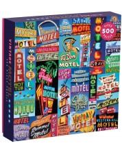 Puzzle Galison de 500 piese - Vintage Motel Signs