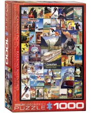 Puzzle Eurographics de 1000 piese - Canadian Pacific - Railroad Adventures -1
