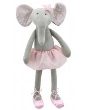 Papusa din carpa The Puppet Company - Elefantel, 37 cm