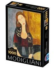 Puzzle D-Toys de 1000 piese - Portrait of Jeanne Hébuterne -1