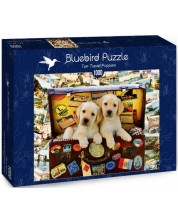 Puzzle Bluebird de 1000 piese - Two Travel Puppies