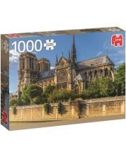 Puzzle Jumbo de 1000 piese - Catedrala Notre-Dame, Paris