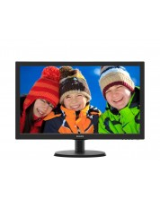 "Philips 223V5LHSB2, 21.5"" Wide TN LED, 5 ms, 10M:1 DCR, 200cd/m2, 1920x1080 FullHD, HDMI, Black -1"