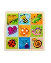 Puzzle din lemn Pino - Aranjseaza modelele si formele