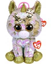 Rucsac de plus cu paiete TY Toys - Unicorn Fantasia, 25 cm