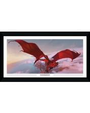 Poster cu rama GB eye Games: Dungeons & Dragons - Red Dragon