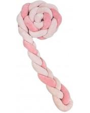Protectie laterala din plus pentru patut Kikka Boo - impletita in 3, 180 cm, pink -1