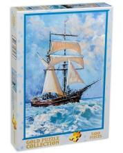 Puzzle Gold Puzzle de 500 piese - Barca cu panze in ocean