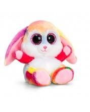 Jucarie de plus Keel Toys Animotsu - Iepuras colorat, 15 cm