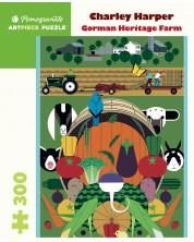 Puzzle Pomegranate de 300 piese - Gorman heritage farm, Charley Harper -1
