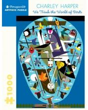 Puzzle Pomegranate de 1000 piese - Lumea pasarilor, Charlie Harper -1