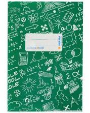 Coperta  O Plus - Herma Schoolydoo, A5, verde inchis