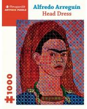 Puzzle Pomegranate de 1000 piese - Esarfa de cap, Alfredo Aregin -1