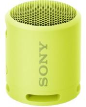 Boxa portabila Sony - SRS-XB13, impermeabila, galbena -1