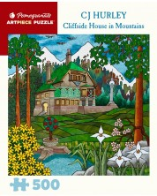 Puzzle Pomegranate de 500 piese - Cliffside house in Mountains, C. J Hurley -1