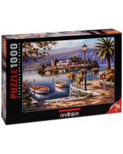 Puzzle Anatolian de 1000 piese - Portul lacului, Sung Kim