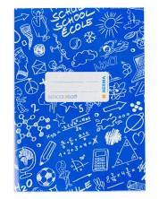 Coperta O Plus - Herma Schoolydoo, A5, albastru inchis