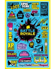 Poster maxi Pyramid - Battle Royale (Infographic)