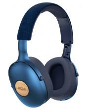 Casti wireless cu microfon House Of Marley - Positive Vibration XL, denim