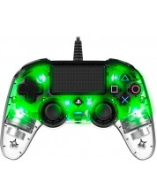 Controller Nacon за PS4 - Wired Illuminated Compact Controller, crystal green