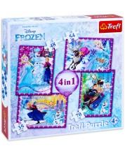 Puzzle Trefl 4 in 1 - Nebunie de iarna