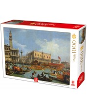 Puzzle Deico Games de 1000 piese - Giovanni Antonio Canal, Bucentaur's return to the pier by the Palazzo Ducale