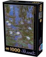 Puzzle D-Toys de 1000 piese - Nufar termal, Claude Monet