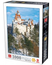 Puzzle Deico Games de 1000 piese - Romania, Bran Castle